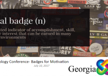 Upstate Technology Conference- Badges for Motivation